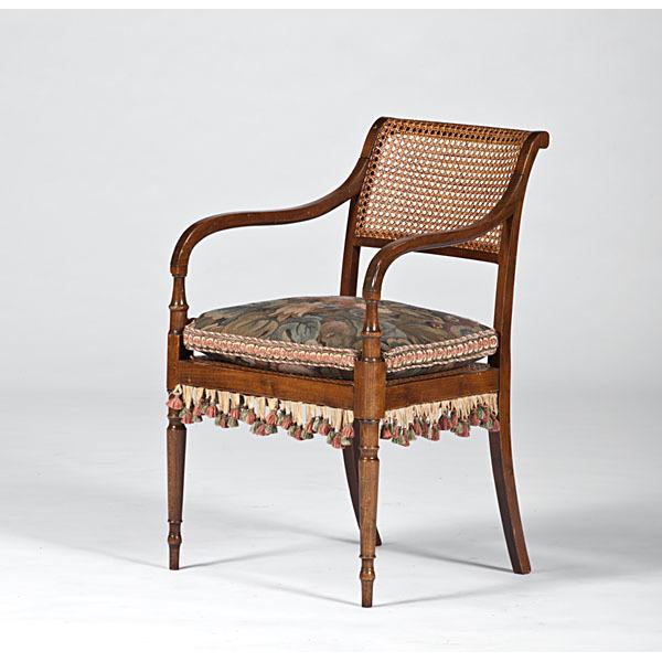 Regency Cane Back Armchair