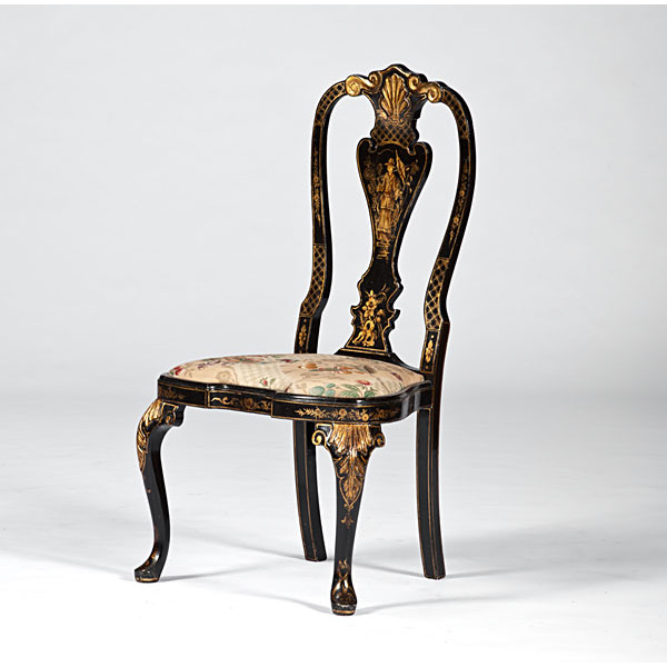 Japanned Side Chair