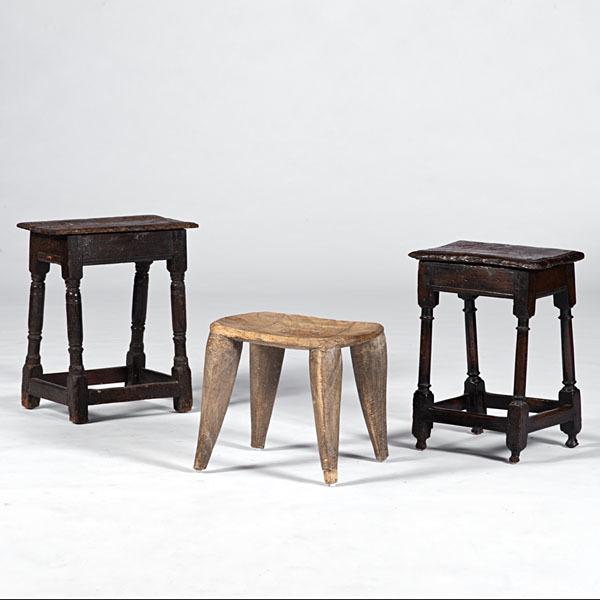 English Joint Stools and African Stool