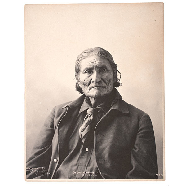 F.A. Rinehart (American, 1861-1928) Platinum Photograph of Geronimo