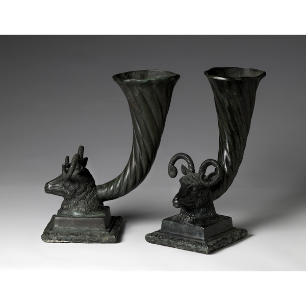 Pair of Napolese Bronze Torchieres
