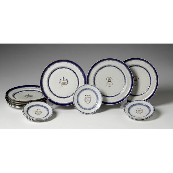 Group of Chinese Export Dinner Service Plates