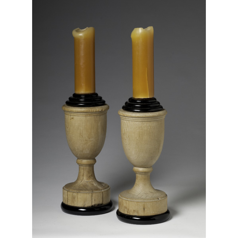 Urn Form Wood Candle Holders