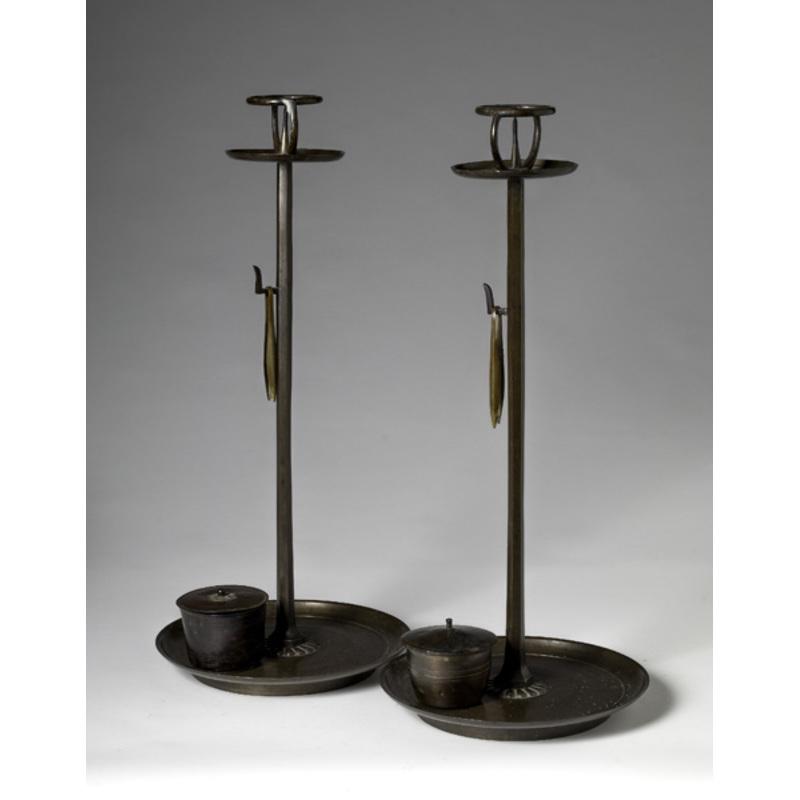 Japanese Bronze Pricket Sticks