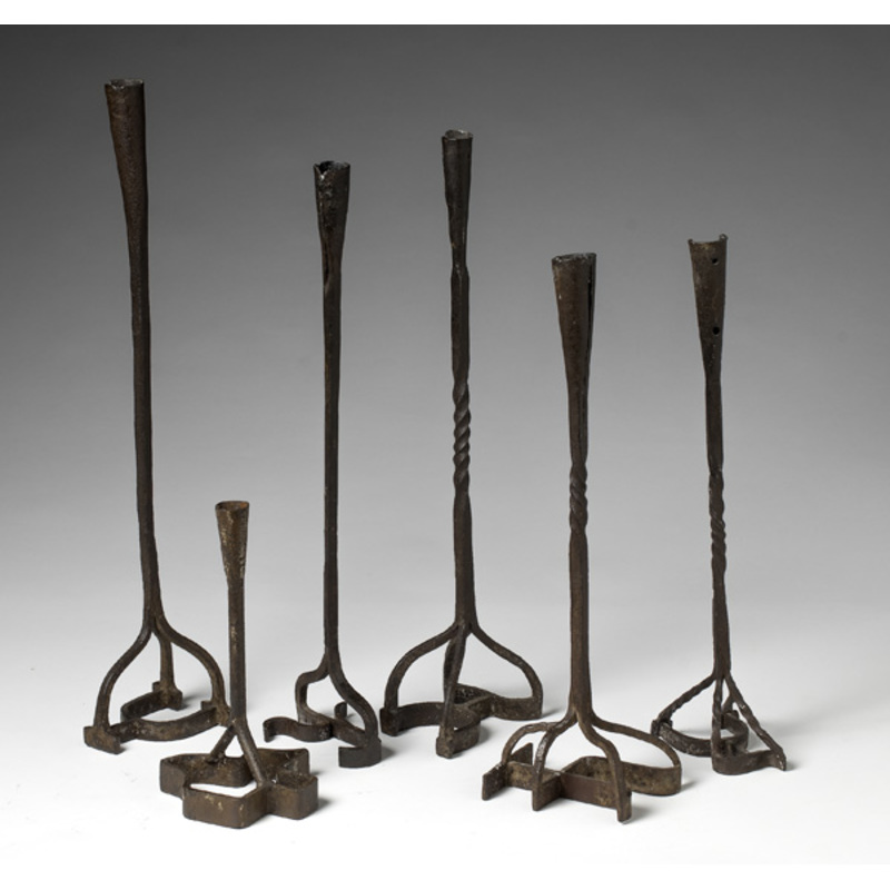 Branding Iron Candlesticks