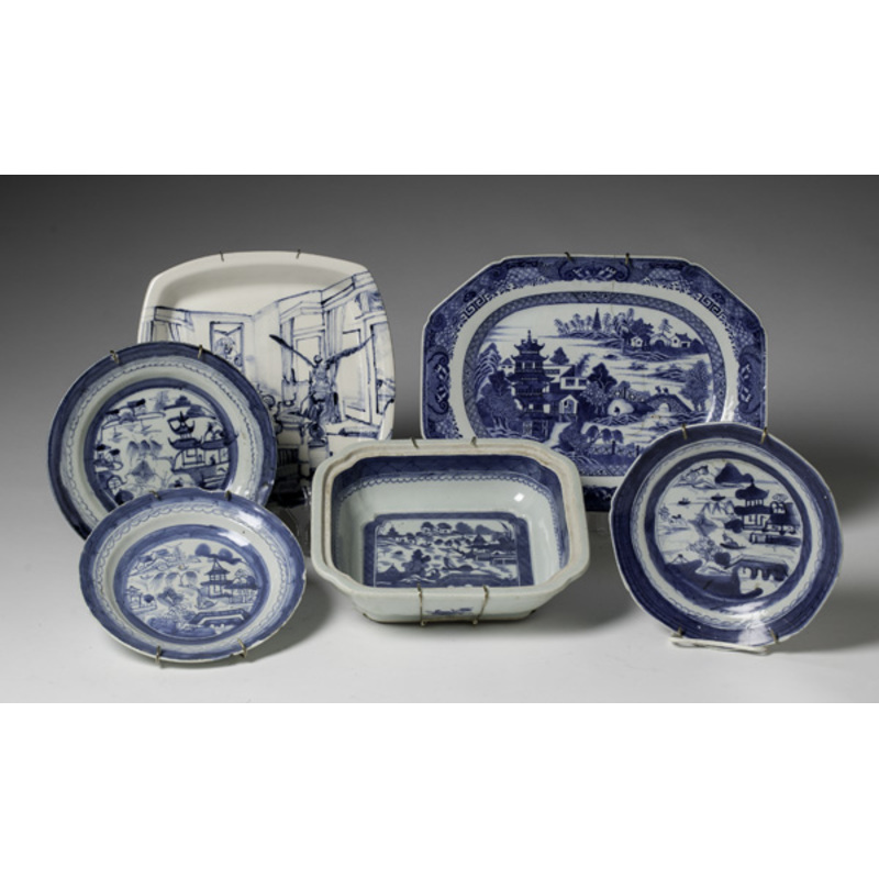 Group of Chinese Export Blue and White Ware
