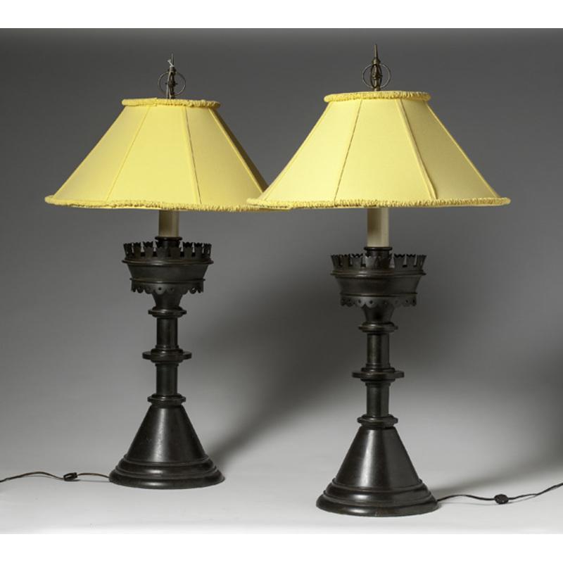 Bronze Pricket Stick Lamps