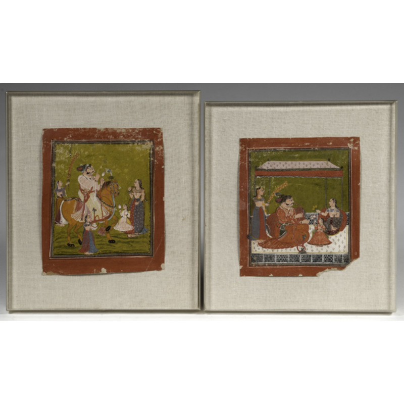 Pair of Indian Mughal Paintings