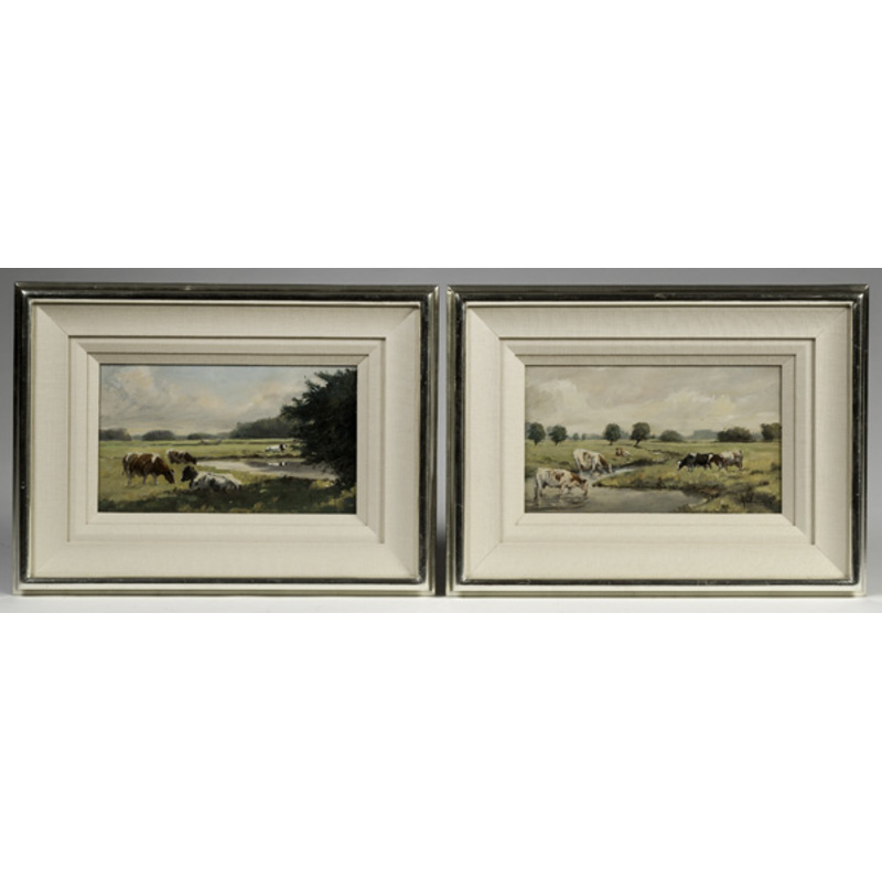 Pair of Pastoral Oil Paintings