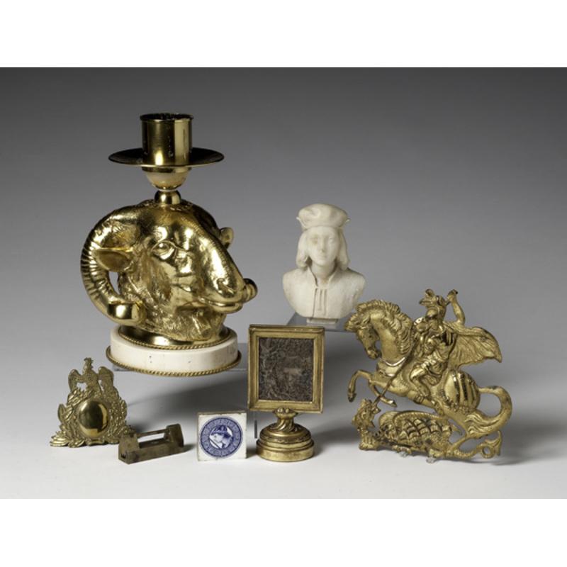 Gilt and Brass Decorative Items, Plus