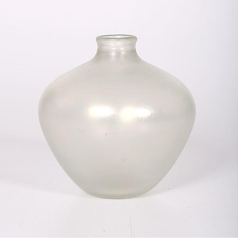 White Stretch Glass Vase by Robert Barber