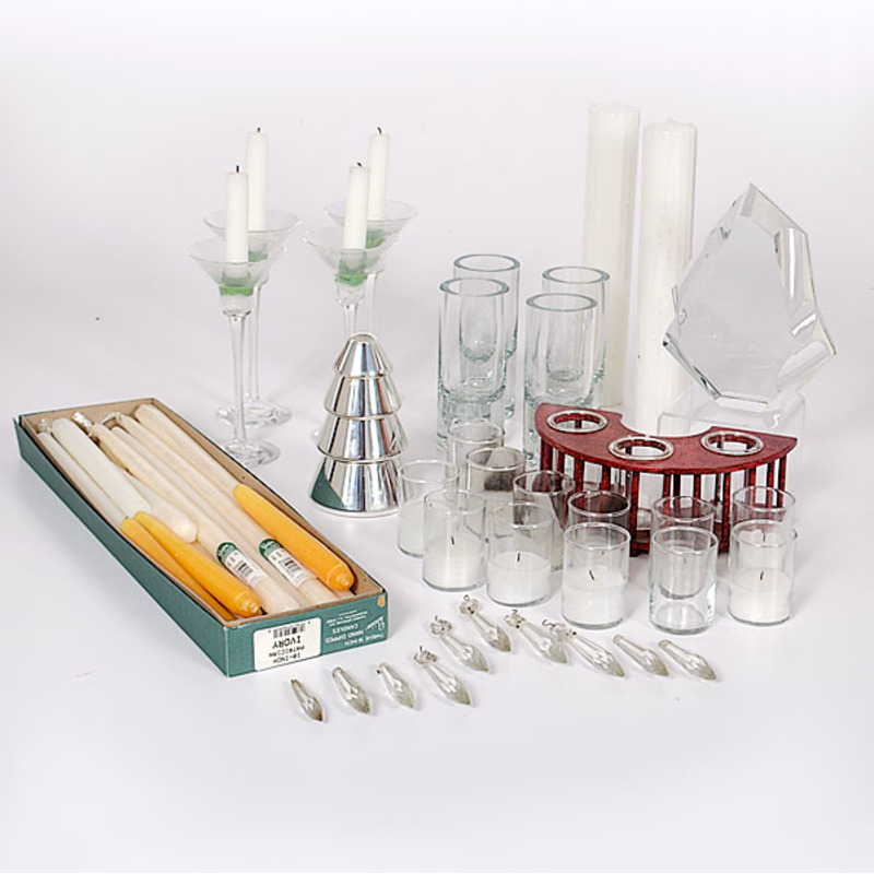 Candles and Candle Holders, Plus