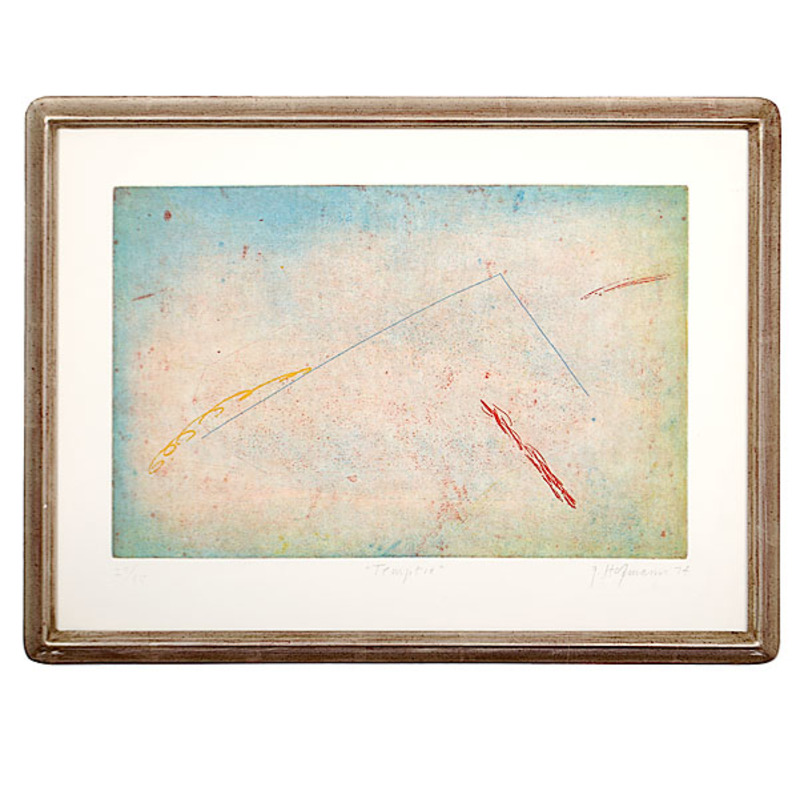 20th Century Abstract Lithograph in Colors by G. Hofmann