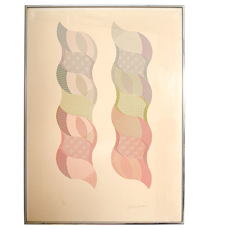 20th Century Abstract Serigraph by George Woodman
