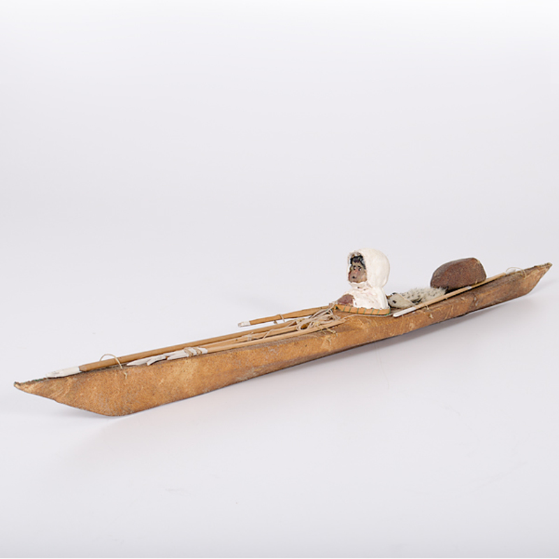 Eskimo Kayak with Hunter and His Gear
