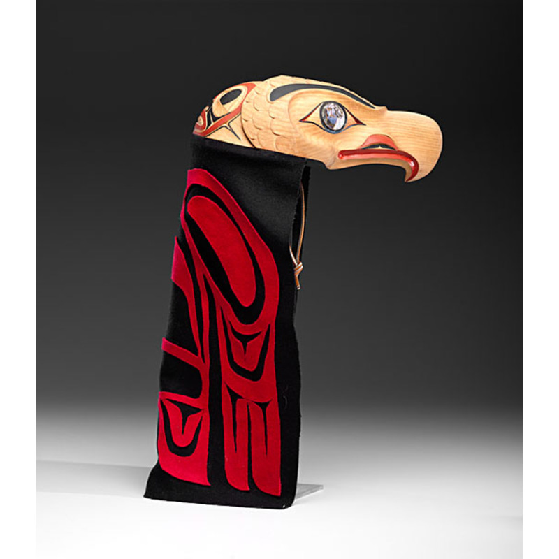 Heber Reece (Tsimshian, b.1955) Carved Eagle Helmet