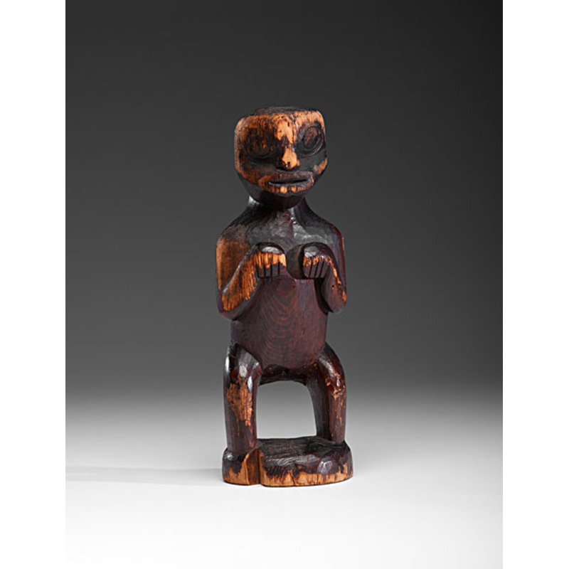 Tlingit Carved Wooden Transformation Figure