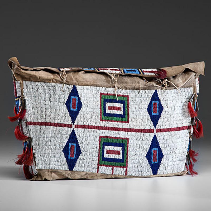Cheyenne Beaded Buffalo Hide Possible Bag