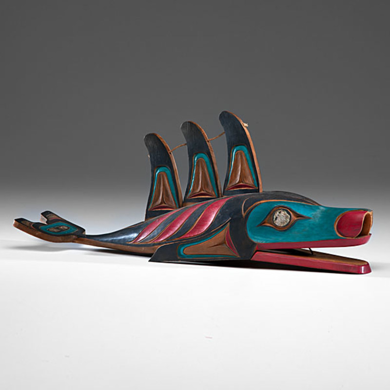 Ivan Otterlifter (Cherokee, 1936-1999) Carved Killer Whale