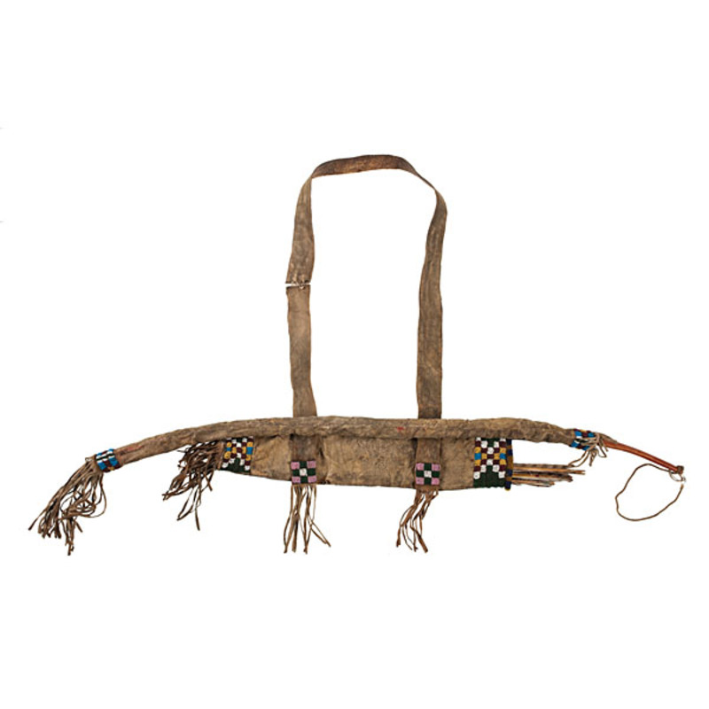 Sioux Beaded Hide Bow Case and Quiver