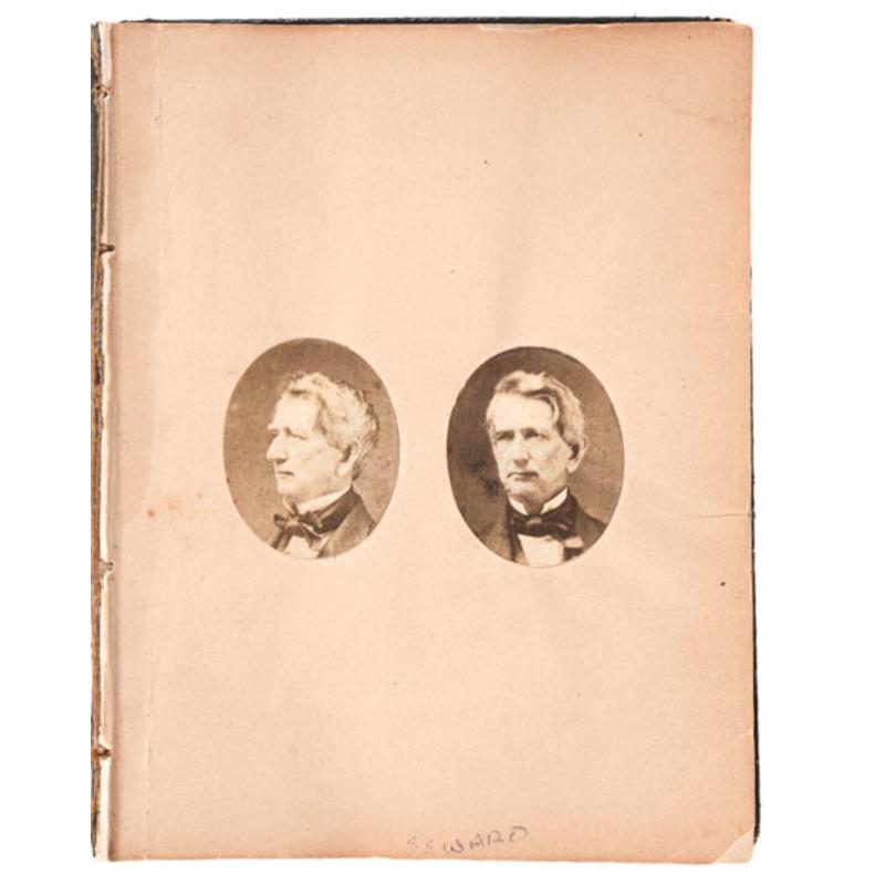 Pre-Civil War Album of Salted Paper Photographs, Including Seward, Douglas & Beecher