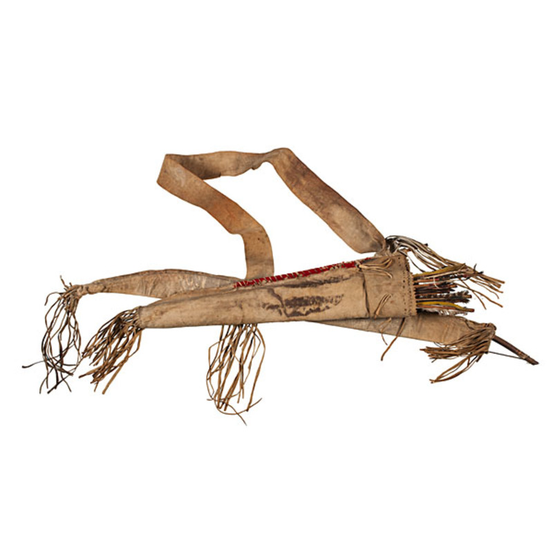 Sioux Hide Bowcase and Quiver with Bow and Arrows