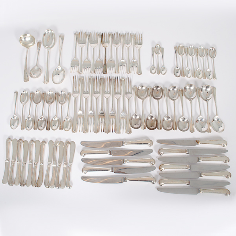 English Sterling Flatware Serice