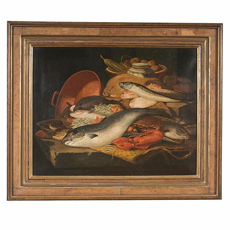 Still Life of Fish by Charles Thomas Bale