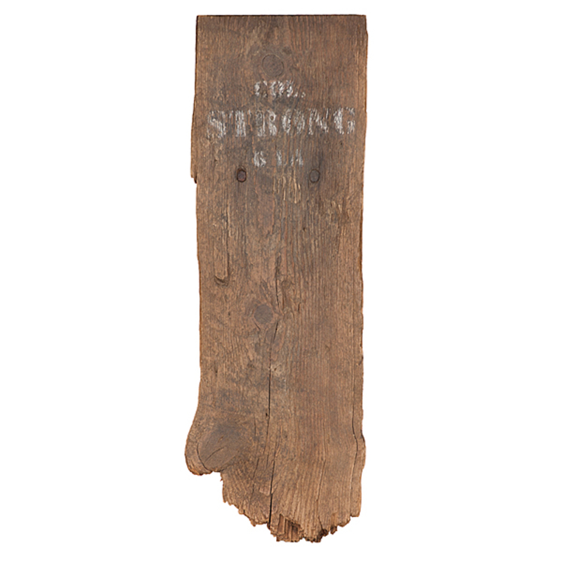 Civil War Temporary Burial Markings for Confederate Colonel Henry B. Strong, 6th Louisiana