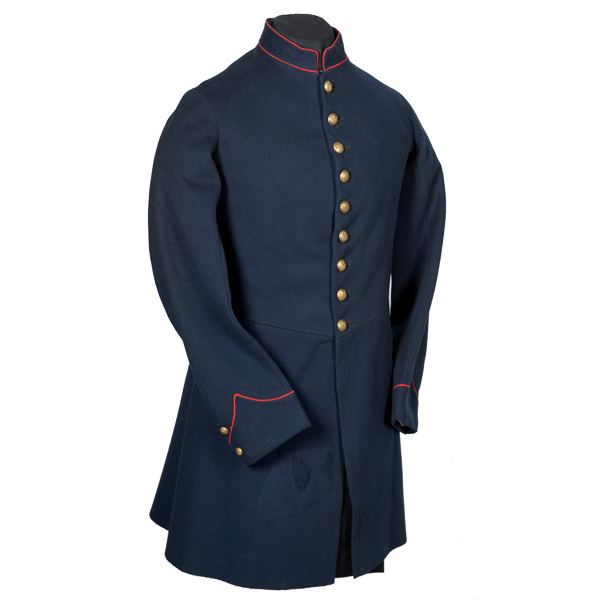 Nine Button Civil War Artillery Enlisted Frock Coat Worn by Sgt. Henry H. Thomas, 8th NYHA