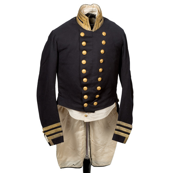 Early Naval Officer's Coatee and Vest Identified to Captain George Washington Storer, USN