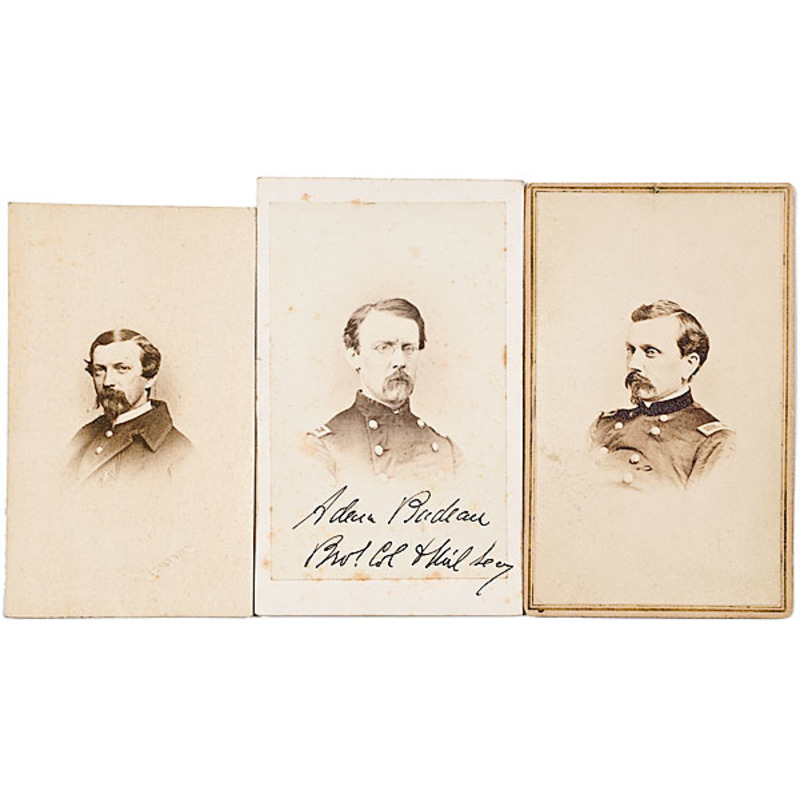 Three CDVs of Staff Officer BBGs: Orville Babcock, Adam Badeau, Wilson Barstow
