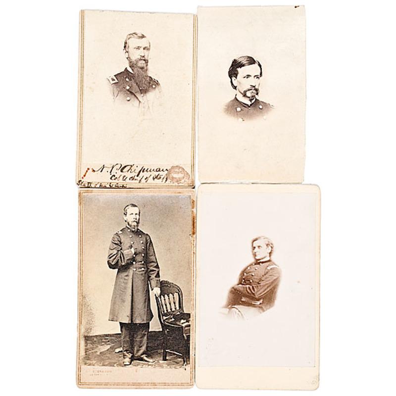 Four CDVs of Staff Officer BBGs: Henry Lawrence Burnett, John Allen Campbell, Norton P. Chipman, John S. Clark