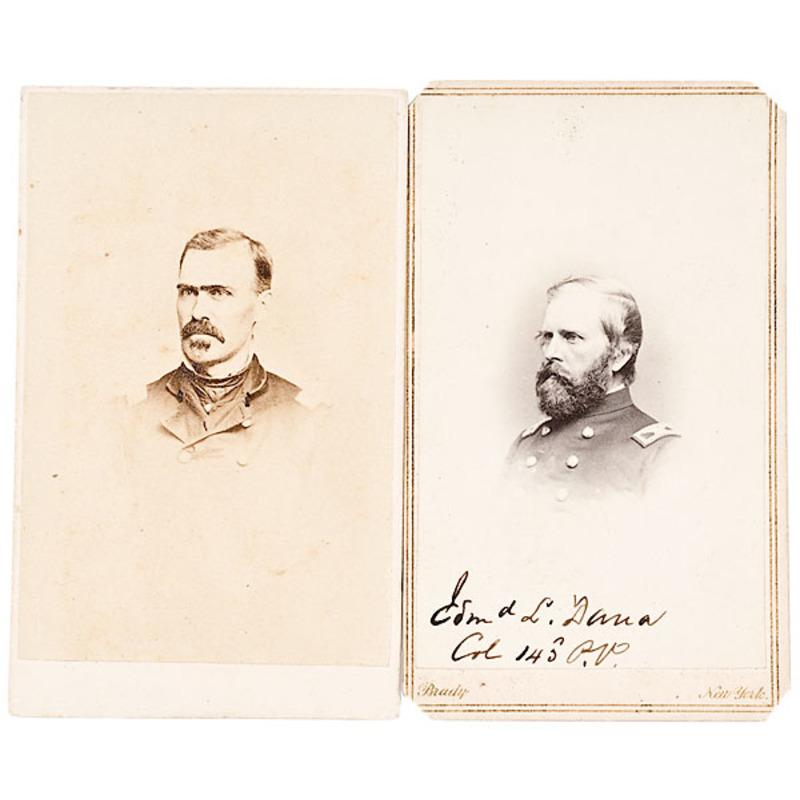 Two CDVs, Pennsylvania BBGs: Edmund L. Dana and William W.H. Davis