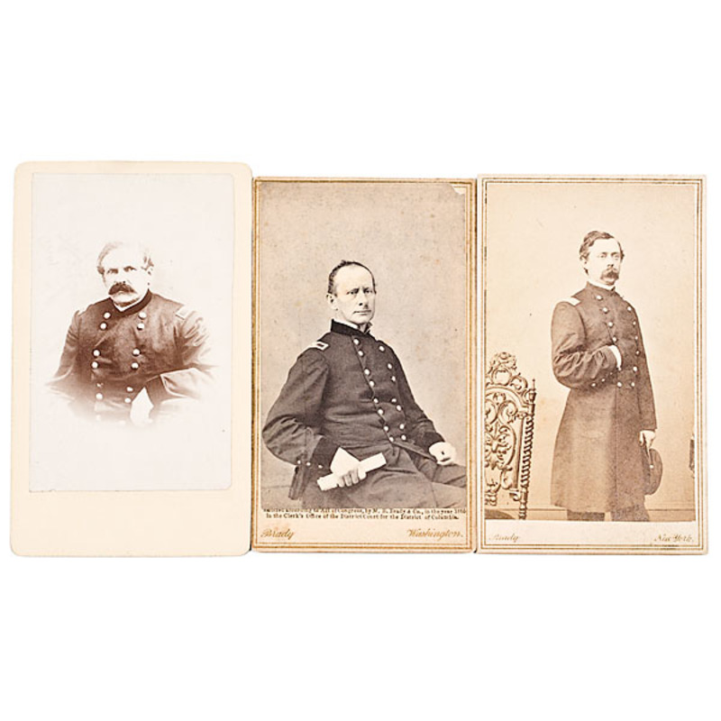 Three CDVs, Pennsylvania BBGs: John Ely, Wellington H. Ent, Joseph W. Fisher