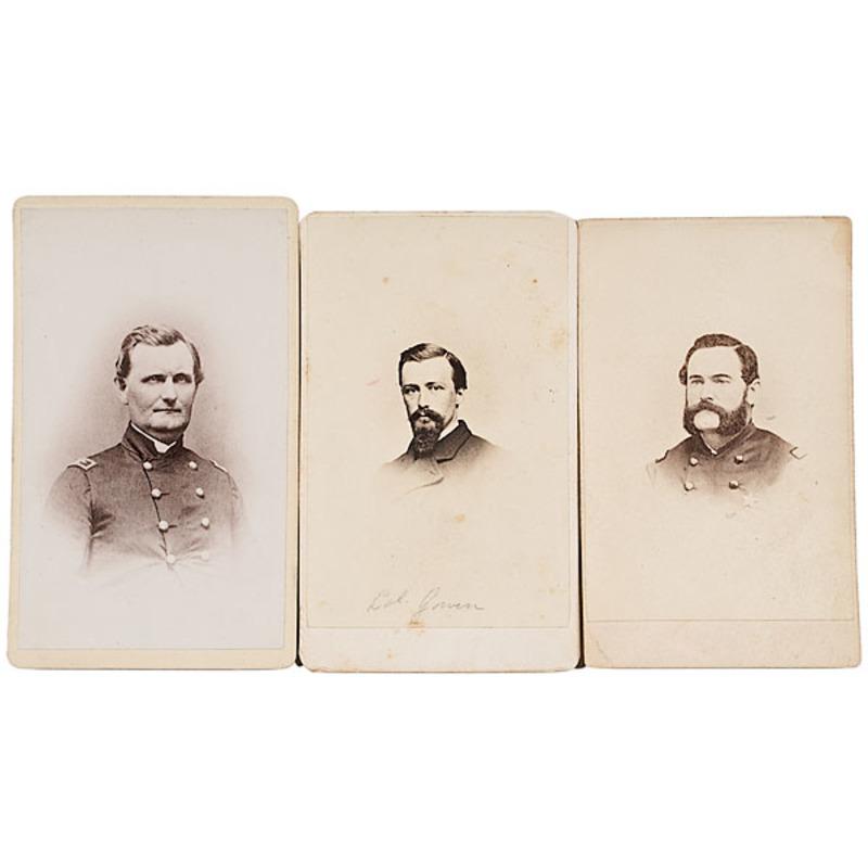 Three CDVs, Pennsylvania BBGs: John Flynn, Thomas F. Gallagher, George W. Gowen