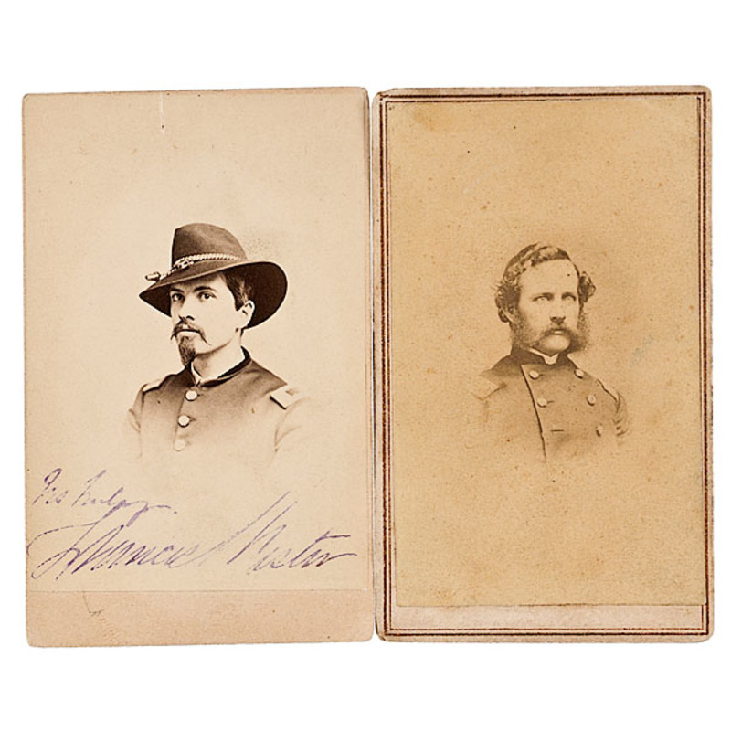 Two CDVs of Gettysburg Interest: Col. Wm. Henry Jr., Capt. Francis Wister