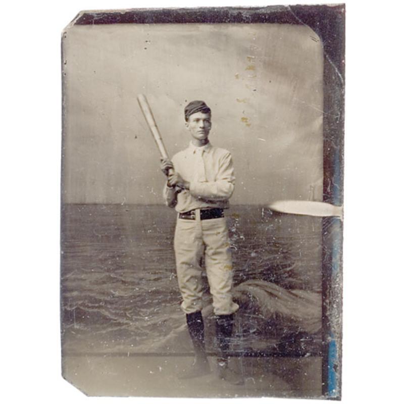 Tintype of Baseball Player,