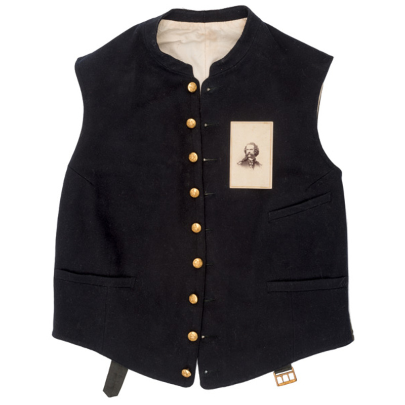 Military Vest and CDV of Capt. Henry B. Hays, 6th US Cavalry