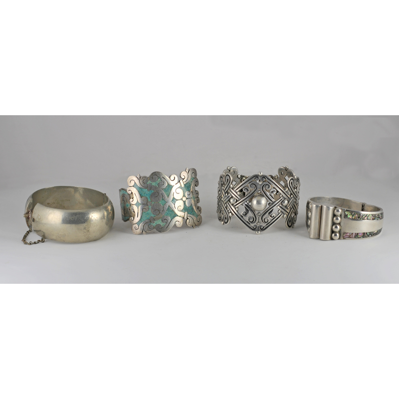 Los Castillo (Mexican, founded 1939) Large Bracelet and Assorted Mexican...