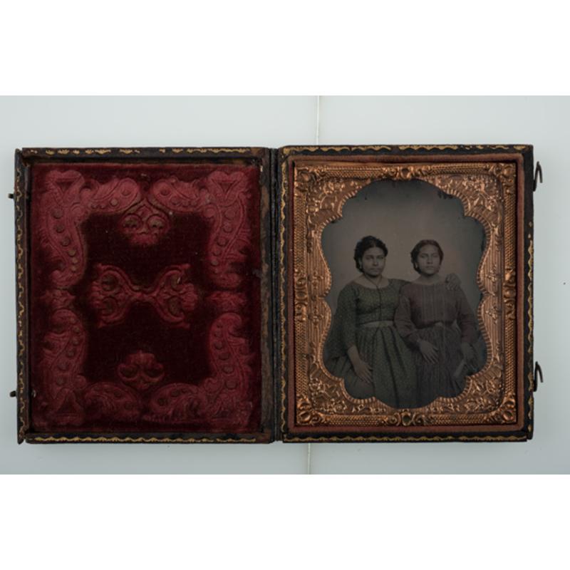 Sixth Plate Ambrotype of Two Hispanic Women