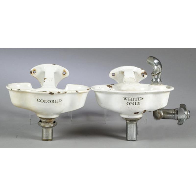 Pair of Segregation-Era Drinking Fountains,