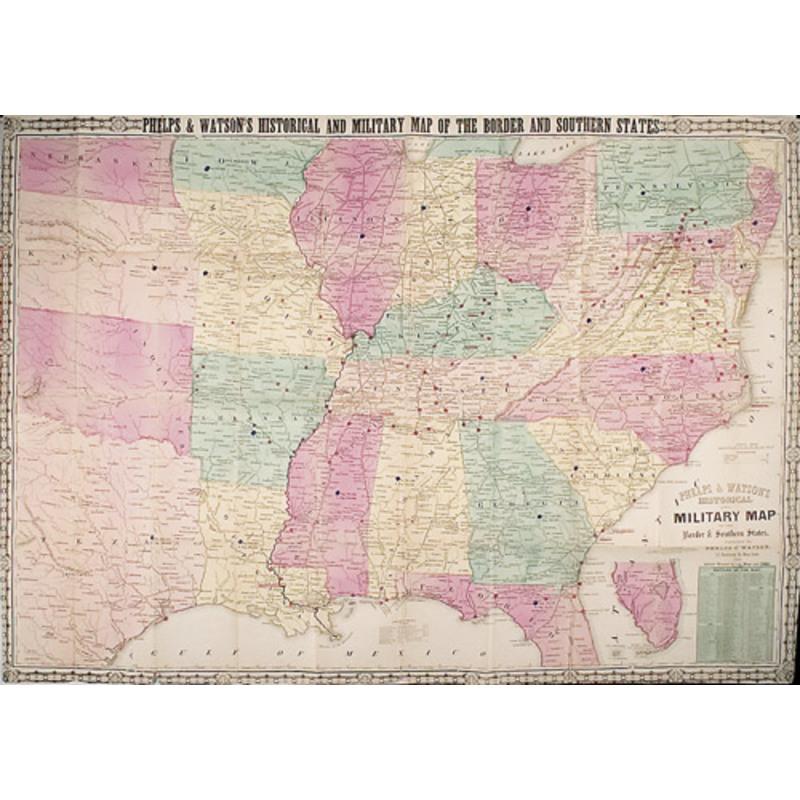 Civil War Sites Map on