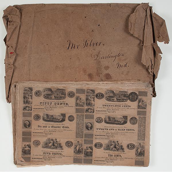 1841 Darlington, Maryland Currency