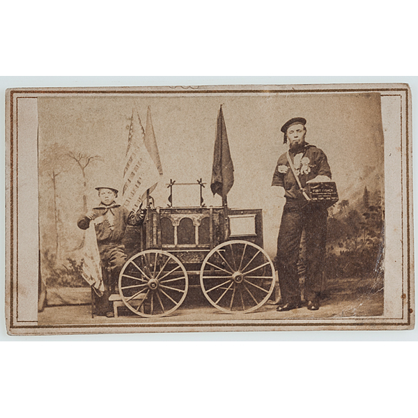 Civil War CDV of Double Amputee Sailor and Little Boy