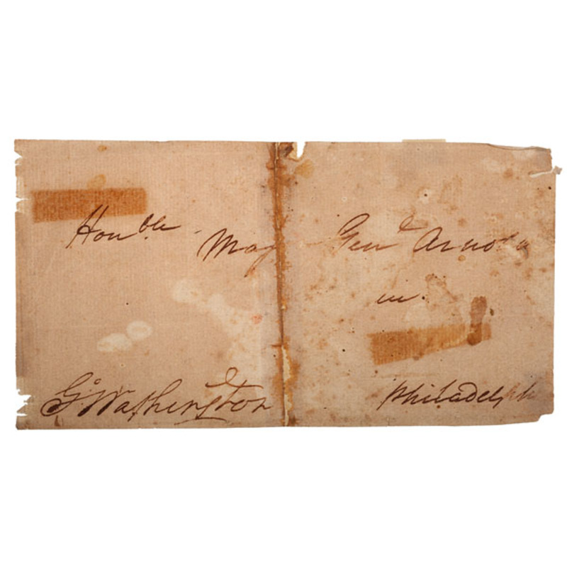 George Washington Signed Envelope, Addressed to Benedict Arnold