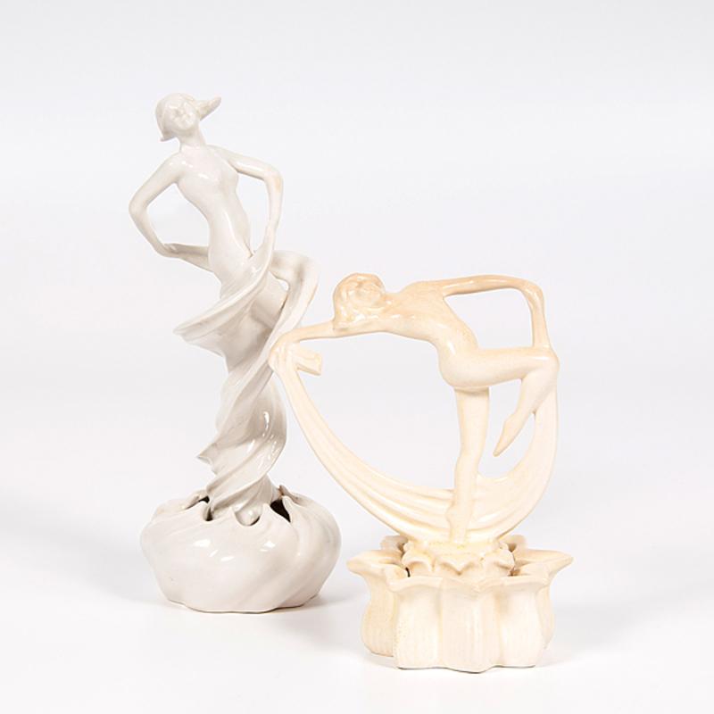 Cowan Pottery Figural Flower Frogs