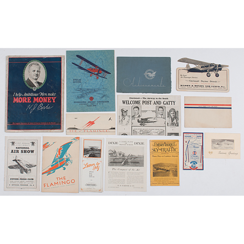 Rare group of  Early Aviation Artifacts Related to Cincinnati