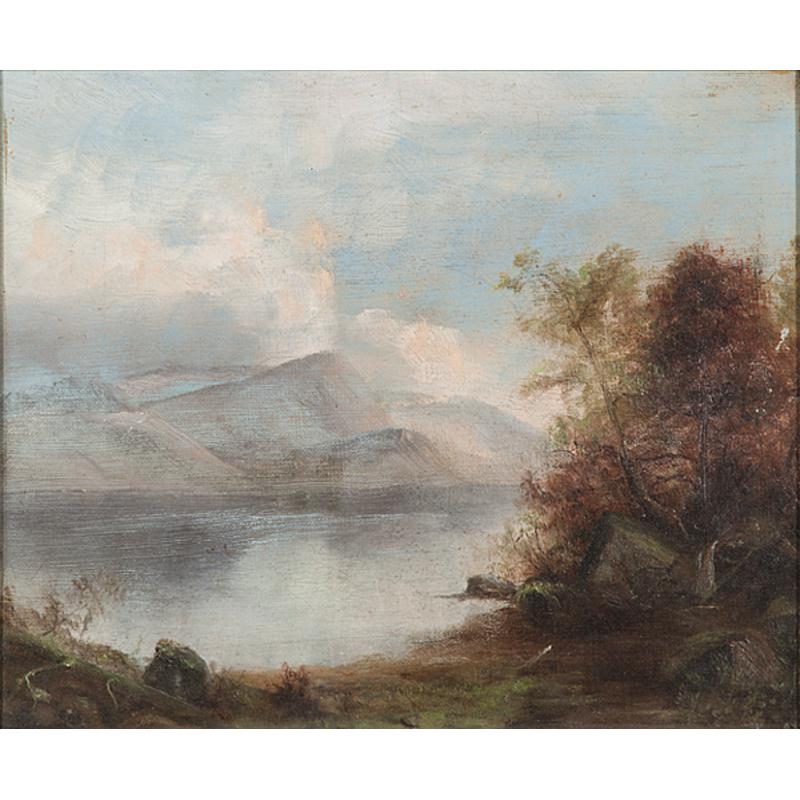 Hudson River Scene, Oil on Canvas