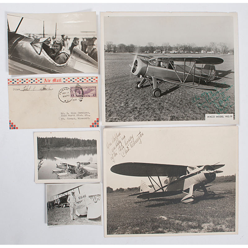 Extensive Early Aviation Photography Collection, Featuring 200+ Images, Aerial Views and Snapshots of Airplanes, Pilots, & More, Some Autographed
